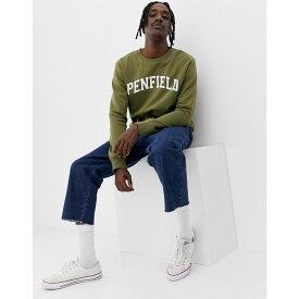ペンフィールド Penfield メンズ トップス スウェット・トレーナー【Stowe collegiate logo crewneck sweatshirt in green】Olive green