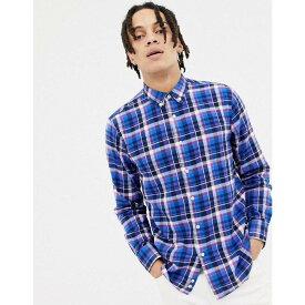 ペンフィールド Penfield メンズ トップス シャツ【Barhead multi flannel check buttondown regular fit shirt in blue】Blue