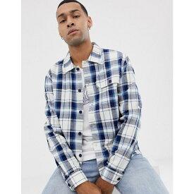 ペンフィールド Penfield メンズ トップス シャツ【spence boxy fit overshirt in white with blue check】Ecru