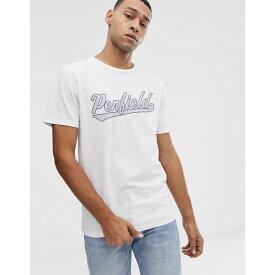ペンフィールド Penfield メンズ トップス Tシャツ【mendona chest logo crew neck t-shirt in white】White