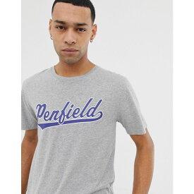 ペンフィールド Penfield メンズ トップス Tシャツ【mendona chest logo crew neck t-shirt in grey marl】Grey