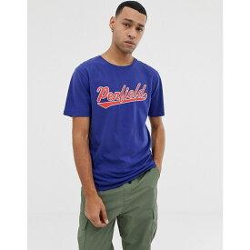 ペンフィールド Penfield メンズ トップス Tシャツ【mendona chest logo crew neck t-shirt in blue】Blueprint
