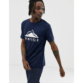 ペンフィールド Penfield メンズ トップス Tシャツ【augusta mountain chest print crew neck t-shirt in navy】Navy