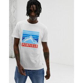 ペンフィールド Penfield メンズ トップス Tシャツ【mountain chest logo print crew neck t-shirt in white】White