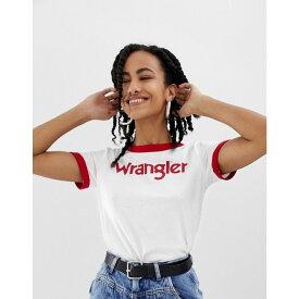 ラングラー Wrangler レディース トップス Tシャツ【ringer t-shirt with front logo】Offwhite
