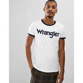 ラングラー Wrangler メンズ トップス Tシャツ【kabel retro large logo ringer t-shirt in white】White