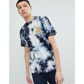 プリミティブ メンズ トップス Tシャツ【Bleach Wash T-Shirt With Large Back Print In Black】Black