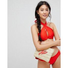 ピンキー レディース 水着・ビーチウェア トップのみ【Cross Front Bikini Top】Red