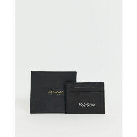ボロンガロトレバー Bolongaro Trevor メンズ カードケース・名刺入れ【leather grain card holder】Black