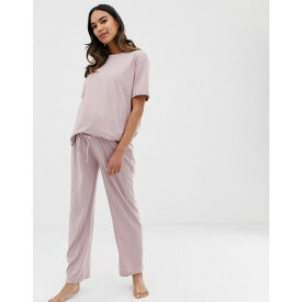 エイソス ASOS Maternity レディース インナー・下着 パジャマ・ボトムのみ【ASOS DESIGN Maternity mix & match marl pyjama jersey trouser】Pink