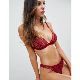 エイソス ASOS DESIGN レディース インナー・下着 ショーツのみ【Roxy lace thong】Red
