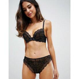 エイソス ASOS DESIGN レディース インナー・下着 ブラジャーのみ【Roxy lace undewire bra】Black