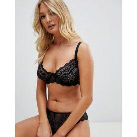 エイソス ASOS DESIGN レディース インナー・下着 ブラジャーのみ【Fuller Bust Roxy lace underwire bra】Black
