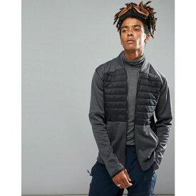 オニール メンズ アウター ジャケット【O'Neill Activewear Kinetic Quilted Sweat Jacket in Black/Grey】Blackout