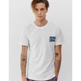 ラスティ Rusty メンズ トップス Tシャツ【graphic t-shirt in white】White