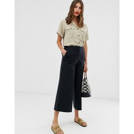 エイソス ASOS DESIGN レディース ボトムス・パンツ【wide leg canvas trousers in navy】Navy