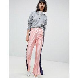 エイソス レディース ボトムス・パンツ【ASOS Trackpants with Split Hem and Side Stripe】Pink