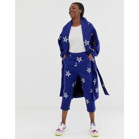 エイソス ASOS MADE IN レディース ボトムス・パンツ【ASOS Made In Kenya star embroidered relaxed trousers in wool mix】Multi