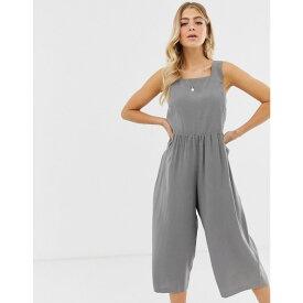 エイソス ASOS DESIGN レディース ワンピース・ドレス オールインワン【minimal jumpsuit with ruched waist】Grey