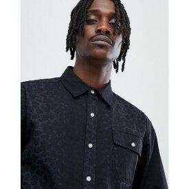 ダイアモンドサプライ Diamond Supply メンズ トップス シャツ【Cheetah Print Shirt In Black】Black