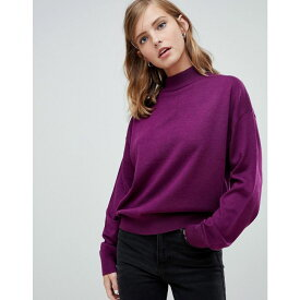 エイソス ASOS DESIGN レディース トップス ニット・セーター【eco jumper in loose fit with turtle neck and balloon sleeve】Purple