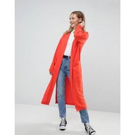エイソス レディース アウター コート【Soft Duster Coat】Orange