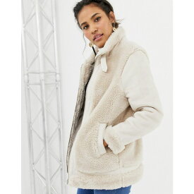 エイソス ASOS DESIGN レディース アウター ジャケット【aviator jacket with faux fur outer】White