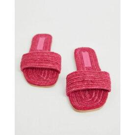 エイソス ASOS DESIGN レディース シューズ・靴 エスパドリーユ【Jayme espadrille sandals】Pink