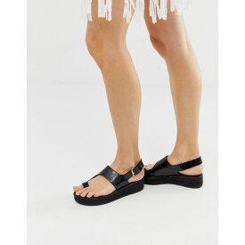 エイソス ASOS DESIGN レディース シューズ・靴 エスパドリーユ【Judie toe loop espadrille sandals】Black