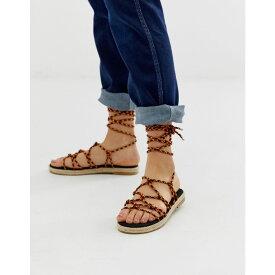 エイソス ASOS DESIGN レディース シューズ・靴 エスパドリーユ【Jester knotted espadrille sandals】Red