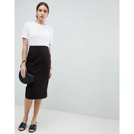 エイソス レディース スカート ひざ丈スカート【DESIGN mix & match pencil skirt】Black