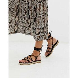 エイソス ASOS DESIGN レディース シューズ・靴 エスパドリーユ【Jester knotted espadrille sandals】Black