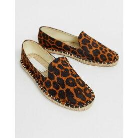 エイソス ASOS DESIGN レディース シューズ・靴 エスパドリーユ【Jual espadrilles in leopard】Leopard