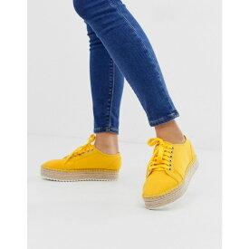 エイソス ASOS DESIGN レディース シューズ・靴 エスパドリーユ【Jakie lace up espadrille trainers】Yellow