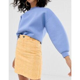 エイソス ASOS WHITE レディース スカート【textured embroidery skirt】Yellow