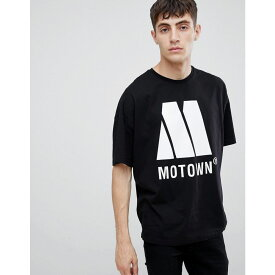エイソス ASOS DESIGN メンズ トップス Tシャツ【Motown oversized t-shirt】Black