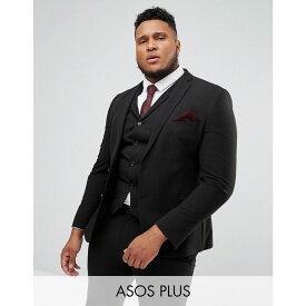 エイソス ASOS DESIGN メンズ アウター スーツ・ジャケット【Plus super skinny fit suit jacket in black】Black
