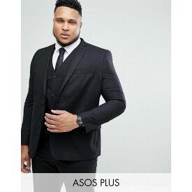 エイソス ASOS DESIGN メンズ アウター スーツ・ジャケット【Plus slim suit jacket in black】Black