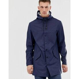エイソス メンズ アウター レインコート【Shower Resistant Rain Coat in Navy】Navy