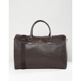 エイソス メンズ バッグ ボストンバッグ・ダッフルバッグ【Holdall In Brown Faux Leather】Brown