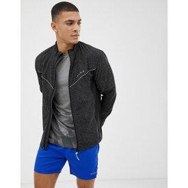 エイソス ASOS 4505 メンズ ランニング・ウォーキング アウター【running jacket with reflective cut & sew panels】Black