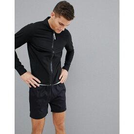 エイソス メンズ ランニング・ウォーキング アウター【Running Jacket With Bonded Seams】Black