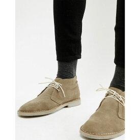 エイソス ASOS DESIGN メンズ シューズ・靴 ブーツ【desert boots in stone suede】Stone