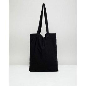 エイソス ASOS DESIGN メンズ バッグ トートバッグ【organic tote bag in black】Black