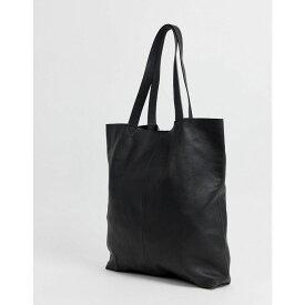エイソス ASOS DESIGN メンズ バッグ トートバッグ【leather tote bag in black】Black