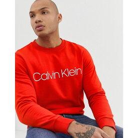 カルバンクライン Calvin Klein メンズ トップス スウェット・トレーナー【large logo sweatshirt in red】Fiery red