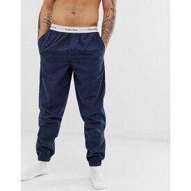 カルバンクライン Calvin Klein メンズ インナー・下着 パジャマ・ボトムのみ【Modern Cotton Stretch woven pyjama bottoms】Navy