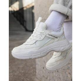 カルバンクライン Calvin Klein レディース シューズ・靴 スニーカー【Maya white chunky trainers】White