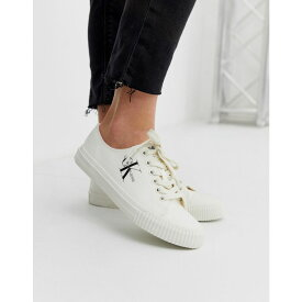 カルバンクライン Calvin Klein レディース シューズ・靴 スニーカー【Ireland canvas white plimsoll trainers】White