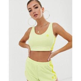 アディダス adidas Originals レディース インナー・下着 ブラレット【three stripe bralette in neon yellow】Yellow